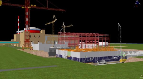 3D model jaderné elektrárny