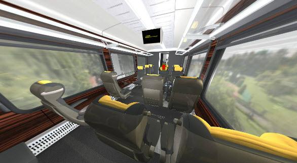 Leo Express zatím nabízí pouze virtuální prohlídku interiéru svých vlaků - zde business class.