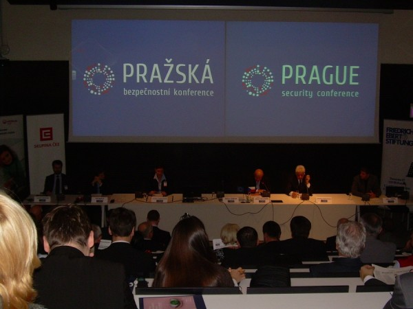 Konference se zúčastnili i Tomáš Karásek, Jiří Mach, Kristina Larischová, Miloš Balabán, Phaedon Anastasiou a Libor Ježek (zleva)