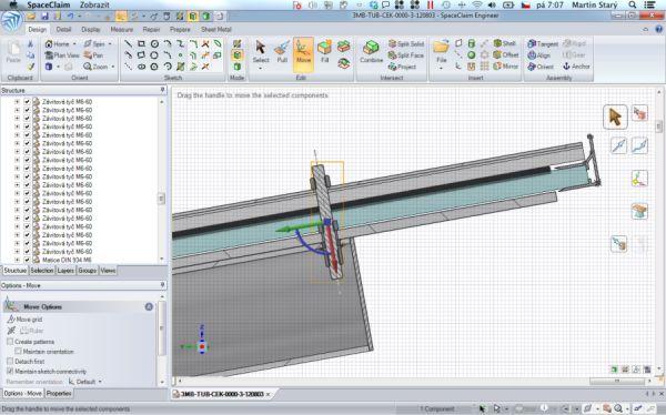 Pracovní prostředí 3D CAD systému SpaceClaim. Foto: Martin Starý
