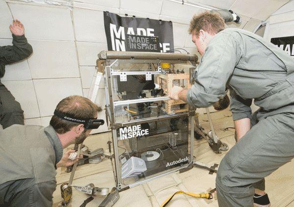 na Mezinárodní vesmírné stanici ISS. Foto: Made in Space