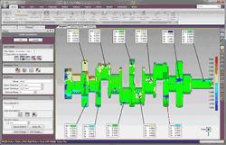 Počítačová aplikace Geomagic Quality pro kontrolu přesnosti fyzických dílů. Foto: Geomagic