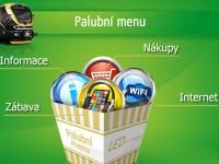 Palubní menu dostupné přes intranet