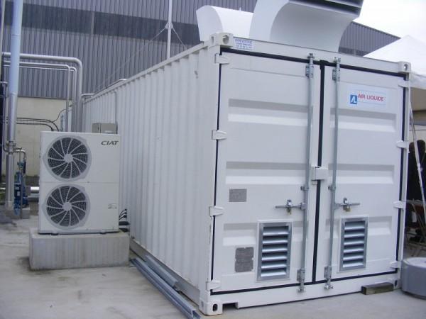 Membránový separátor bioplynu AIR LIQUIDE s připojenou sušičkou plynu CIAT DRYPACK