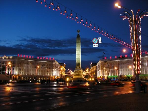 Náměstí vítězství v Minsku. Foto: mikkalai