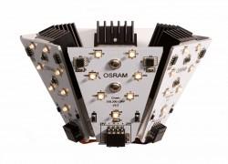 LED modul se skládá ze šesti desek, z nichž je každá osazena sedmi diodami. Tyto diody produkují teplé bílé světlo, podobně jako klasické žárovky.