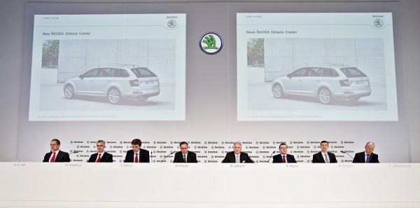 Členové představenstva ŠKODA AUTO během Výroční tiskové konference 2013.