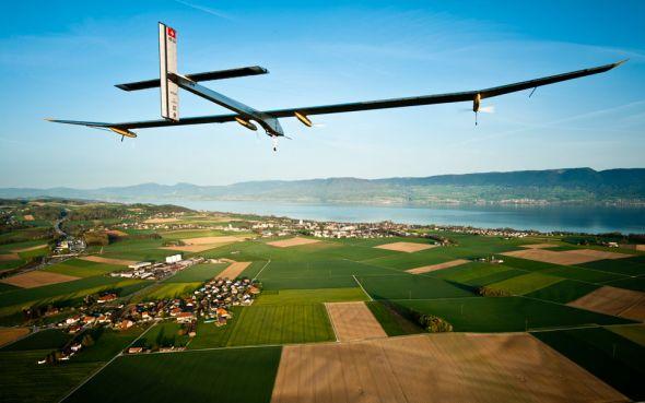 Solární letadlo vydrží až dvacet šest hodin ve vzduchu. Zdorj: Solar Impulse
