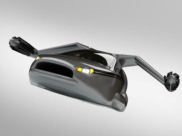 Umělecké provedení modelu TF-X. Zdroj: Terrafugia