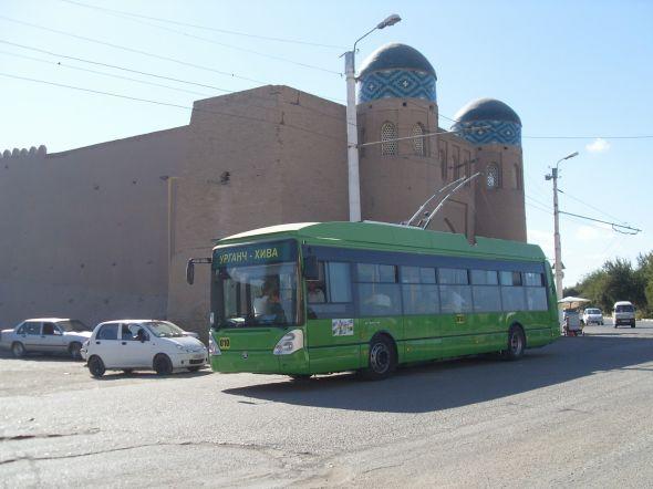 Trolejbusy Škoda 24 Tr jsou speciálně upraveny pro uzbecké podnebí. Zdroj: Škoda Transportation
