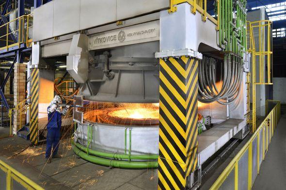 Vítkovice Heavy Machinery získalo za zařízení sekundární metalurgie Zlatou medaili MSV 2013. Zdroj: BVV