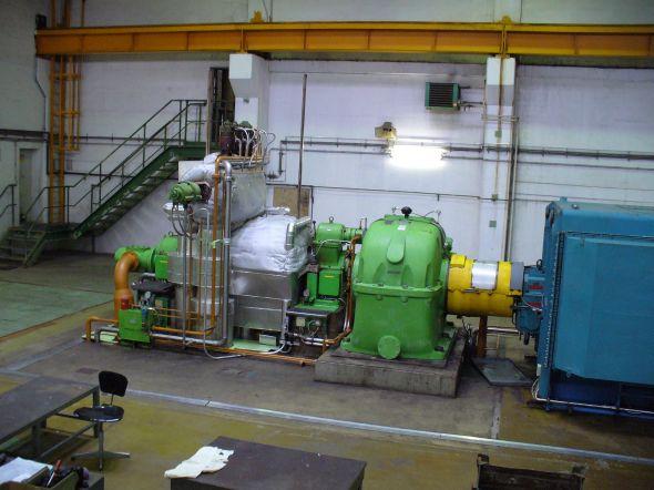 Pohled na turbínu společnosti Biocel Paskov. Zdroj: ZAT
