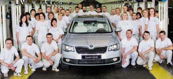 Do konce prosince bylo v Kvasinách vyrobeno pět set tisíc vozů Superb druhé generace. Zdroj: Škoda Auto
