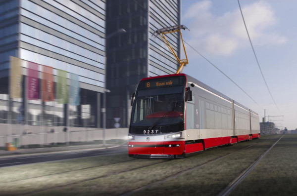 Nízkopodlažní tramvaj ForCity můžete potkat už i v Praze. Zdroj: Forcitytram.cz