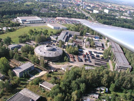 Letecký pohled na areál firmy (zdroj: Gascontrol)