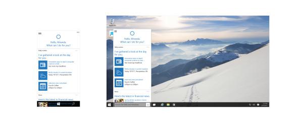 Součastí nových Windows 10 bude interaktivní průvodkyně Cortana, která zná odpověď na každou otázku a dokáže vyřešit – zdá se – všechny problémy. Alespoň tak to bylo prezentováno na tiskové konferenci k Windows 10. (zdroj: Microsoft)