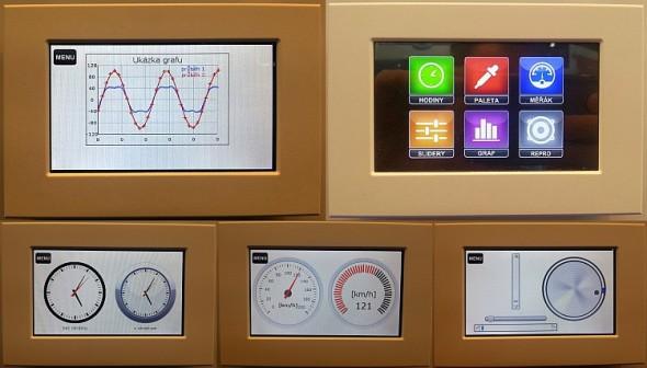 Novinka v ovládacích panelech na stánku Teco. Ty nyní nově umějí zobrazovat různé veličiny různým, přitažlivým a jasným způsobem.