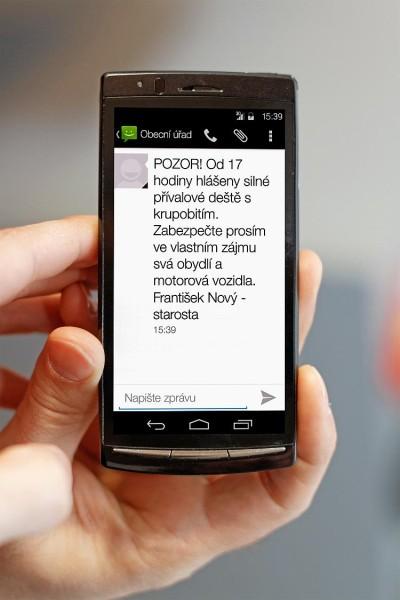 Příklad varovné SMS. Foto: Neogenia