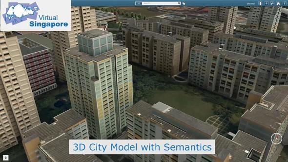 Pohled na projekt Virtuální Singapur. Foto: Dassault Systèmes – 3DExperience Company