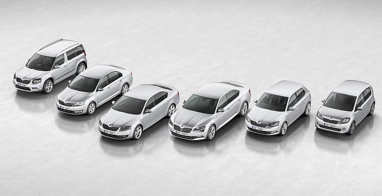 Portfolio nabídky Škoda Auto pro rok 2015. Foto: Škoda Auto