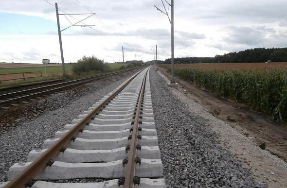 Modernizace trati mezi Veselím nad Lužnicí a Soběslaví. Foto: Eurovia CS