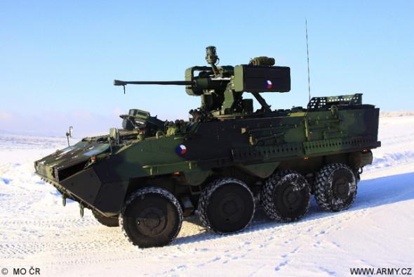 Kolový obrněný transportér Pandur II 8x8. Foto: Jan Kouba/MO České republiky/AČR
