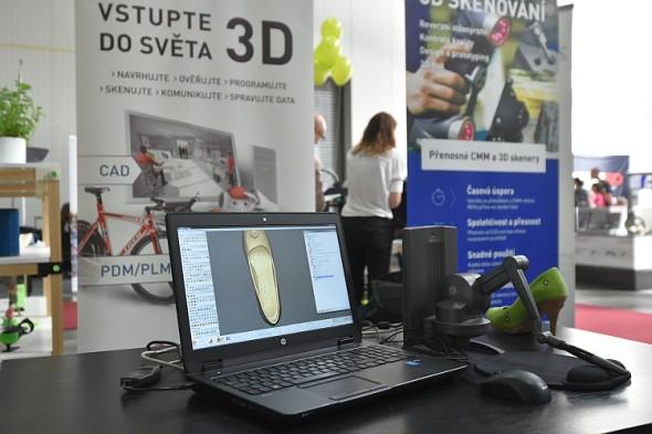 3Dexpo: skenování boty. Foto: PVA