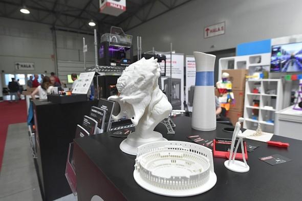 3Dexpo: ukázky tisku. Foto: PVA