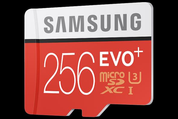 EVO Plus 256GB microSD card. Foto: Samsung