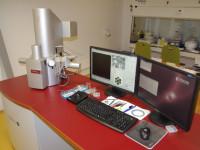 Rastrovací elektronový mikroskop Tescan FE MIRA II LMU s detektory EDX a WDX. Foto: VUT Brno