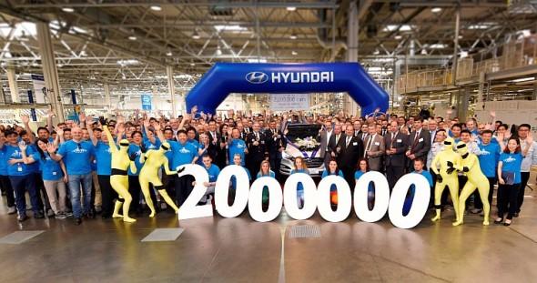 HMMC: dvoumilióntý zde vyrobený vůz. Foto: HMMC