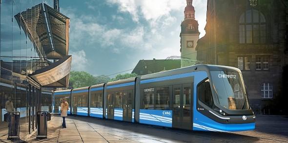 Tramvaj ForCity Clasic pro Chemnitz. Foto: Škoda Transportation