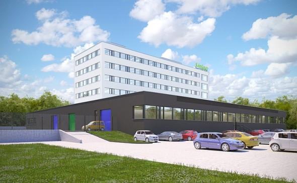 R&D centrum společnosti Valeo v České republice. Vizualizace: Valeo
