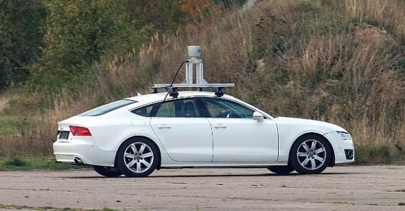 Audi Sportback s instalovaným snímačem LiDAR. Foto: Valeo