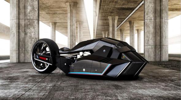 "Vizualizace konceptu BMW ""Titan"". Zdroj: behance.net/dodoreis"