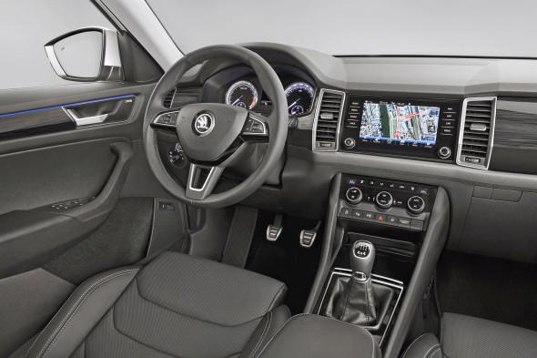 Interiér vozu Škoda kodiaq Zdroj: media.skoda-auto.com