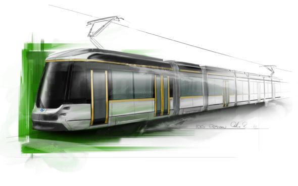 Jokeri tram, preliminary artistic sketch.